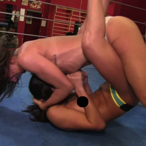 Topless female wrestling